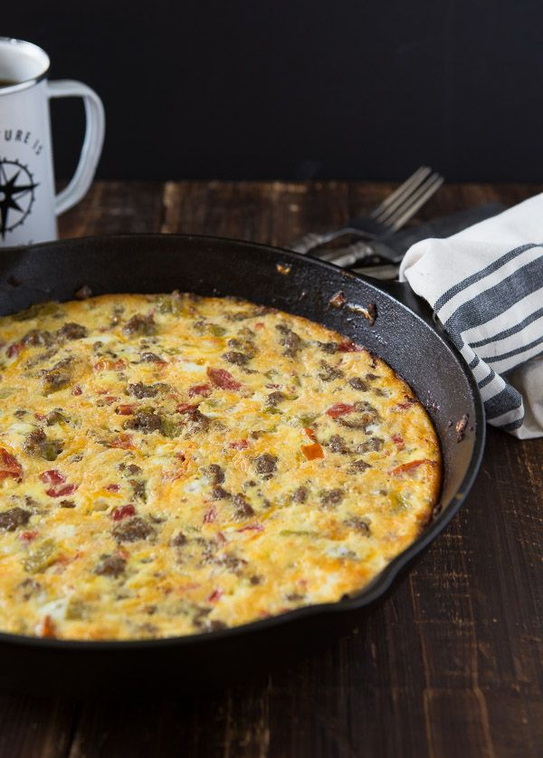 One pot breakfast frittata | a zesty bite