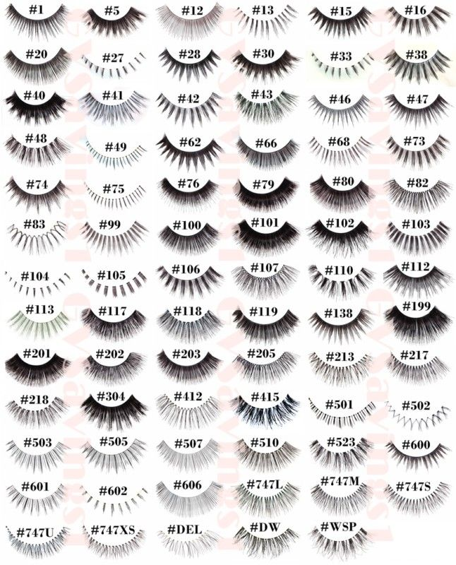 Red Cherry False Eyelash Collection List | Consists of both upper and lower lashes | What's your number?