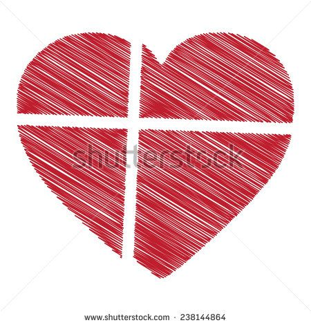 Denmark flag heart shape