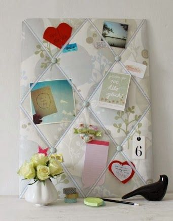Decorative #diy memo board from Emmabees: http://emmabees.wordpress.com/2013/11/22/girls-tooled-up/