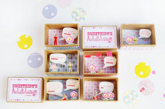 Small personalized Surprise message box
