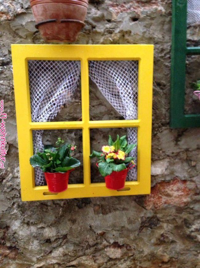 Gartengestaltung aus alten Holzfenstern – D'vonna Conyers
