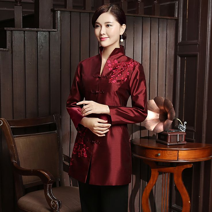 Phenomenal Embroidery Frog Button Chinese Tang Jacket - Chinese Jackets & Coats - Women