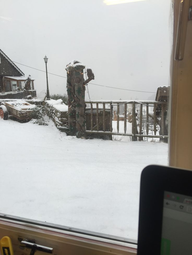 Work from home. Snowing outside today.   Www.askelandfarm.com