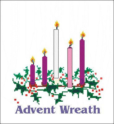 Advent Wreath Great resource for what each colored candle represents & scriptures to read.