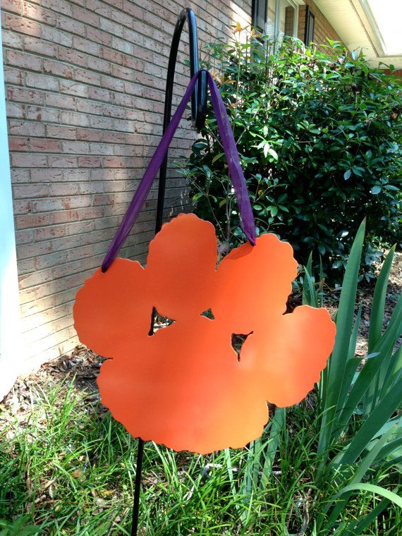 Clemson Tiger Paw Metal SignCan be by mountainridgedesigns on Etsy, $37.00