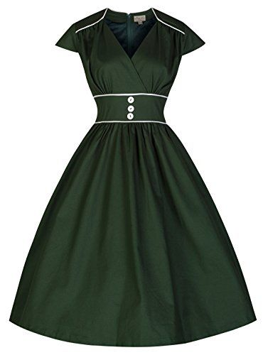 Lindy Bop 'Polly' Carefree and Cute Vintage 50's Retro Style Swing Dress (4XL, Bottle Green) Lindy Bop http://www.amazon.com/dp/B00OCG1DOA/ref=cm_sw_r_pi_dp_m2-oub1WFE0GS