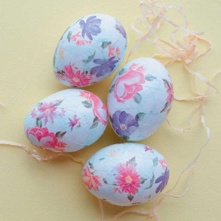 Decoupage eggs #KidsCraft #Easter #SouthAfrica