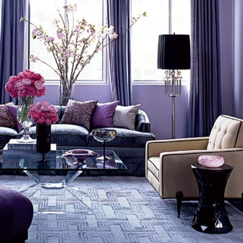 Purple Living Room, Purple Rooms, Decorating