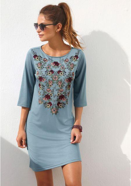 Платье цвет: синий арт: 1004708023 купить в Интернет магазине Quelle за 1499.00 руб - с доставкой по Москве и России