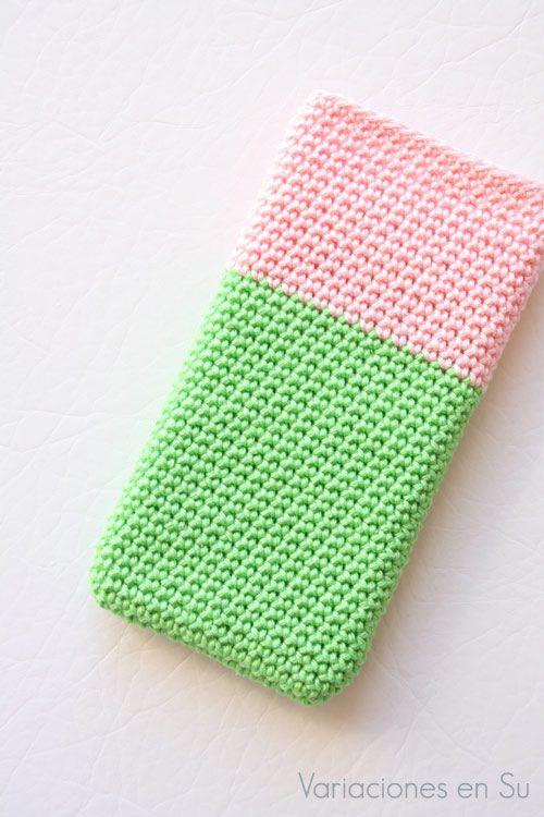 Funda de ganchillo para móvil // Crochet phone case