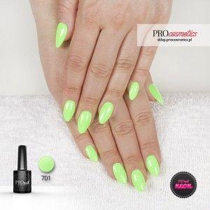 Lakier hybryowy PROnail 777 - Neonowa Limonka(neonowy, nasycony seledyn) -to kolor, który