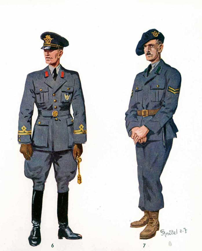 Romanian Air Force uniforms early WW2