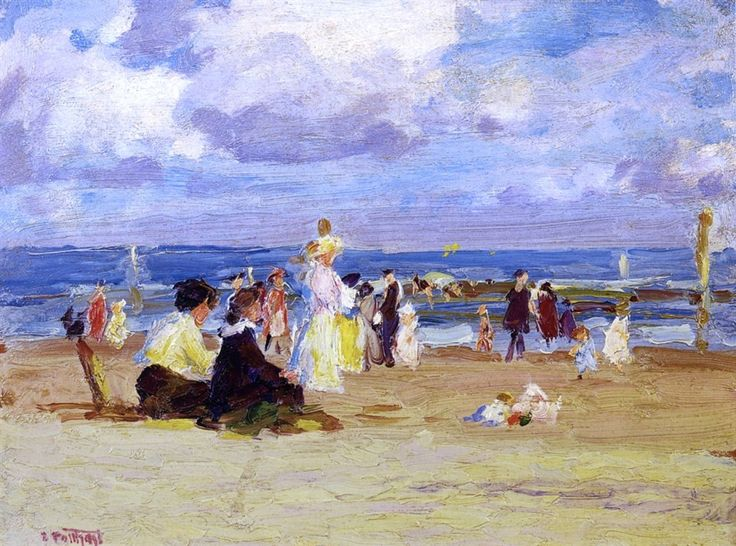 Sunday at the Beach by Edward Potthast