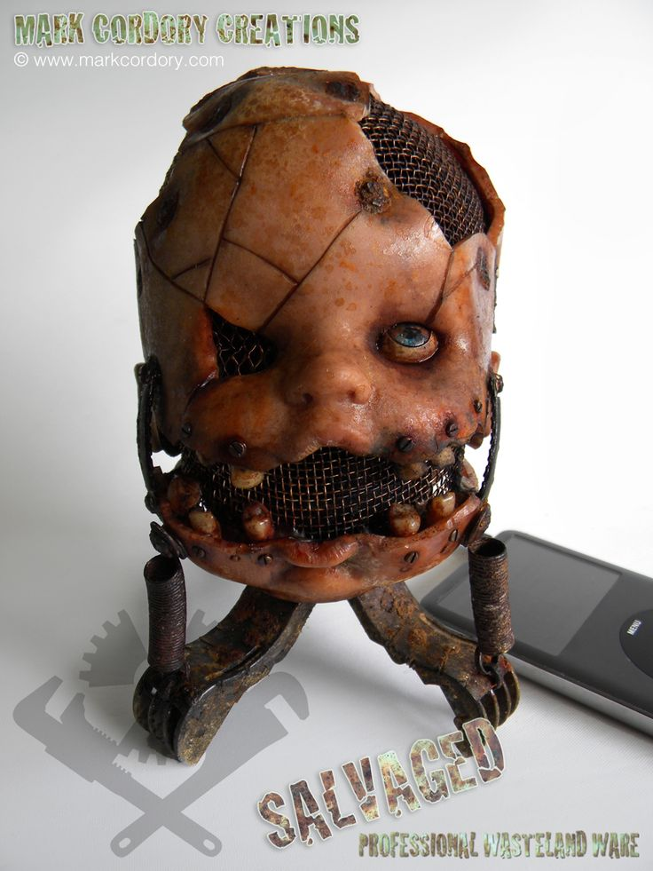 Post Apocalyptic 'Creepy Doll' speaker for iPod. SALVAGED Ware enquiries welcome @ www.markcordory.com