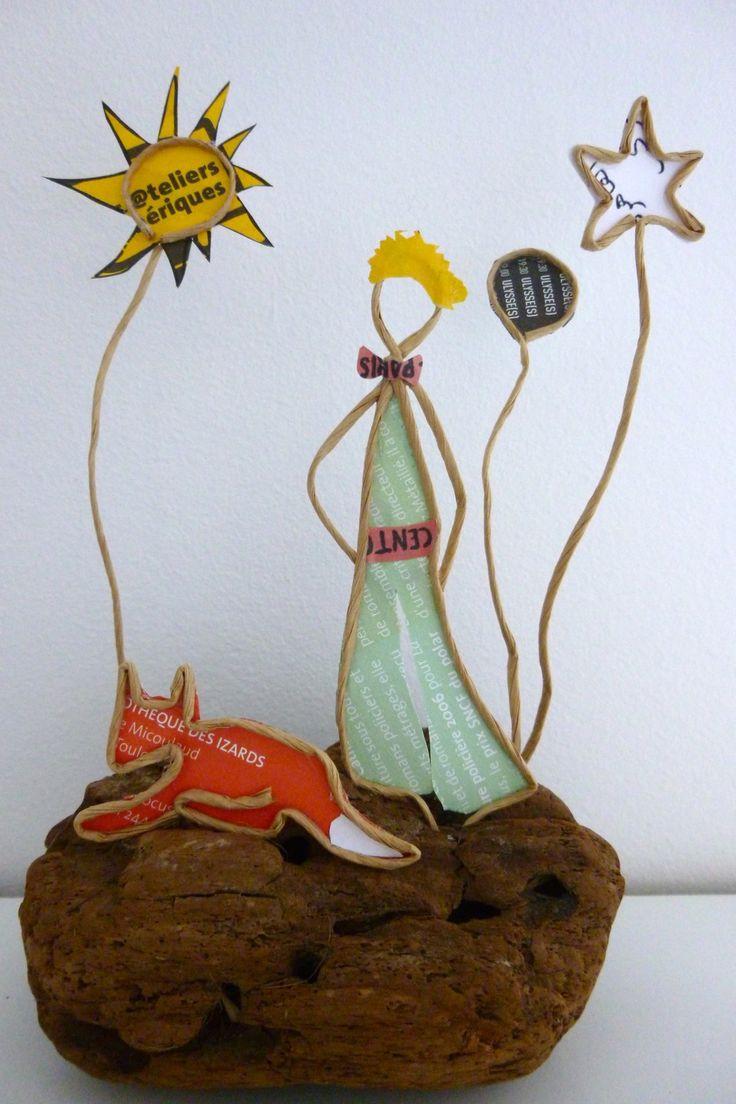 Le Petit Prince - figurine en ficelle et papier : Accessoires de maison par ficelleetpapier