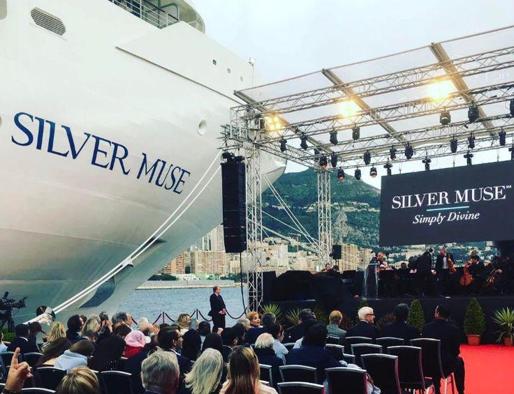 Silversea: cerimonia di battesimo a Monaco per Silver Muse