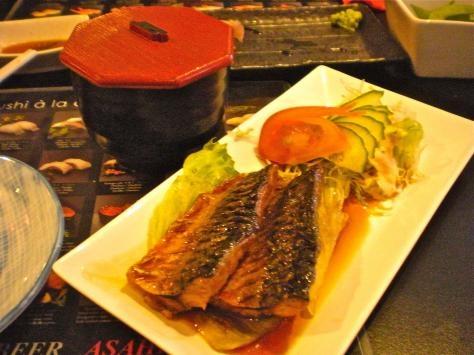 """Mackerel Teriyaki with salad garnish, and rice in the little port"" Southsea, England photo of ""Sakura Japanese Restaurant"" by IgoUgo travel photographer, frangliz ."