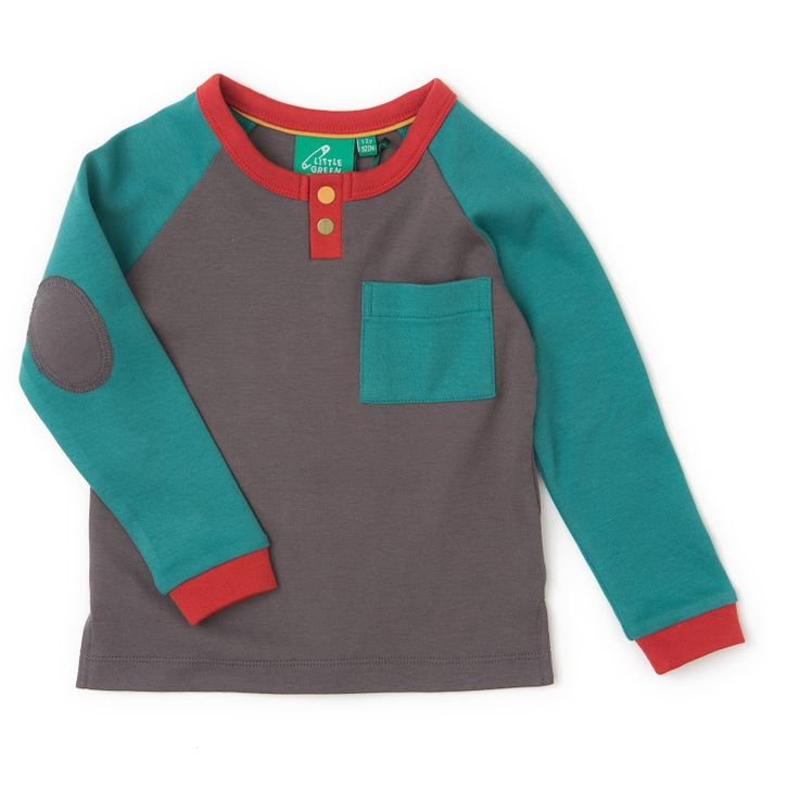 Children organic top. So easy to wear and pair. Made extra trendy with dove grey elbow pad detailing.
