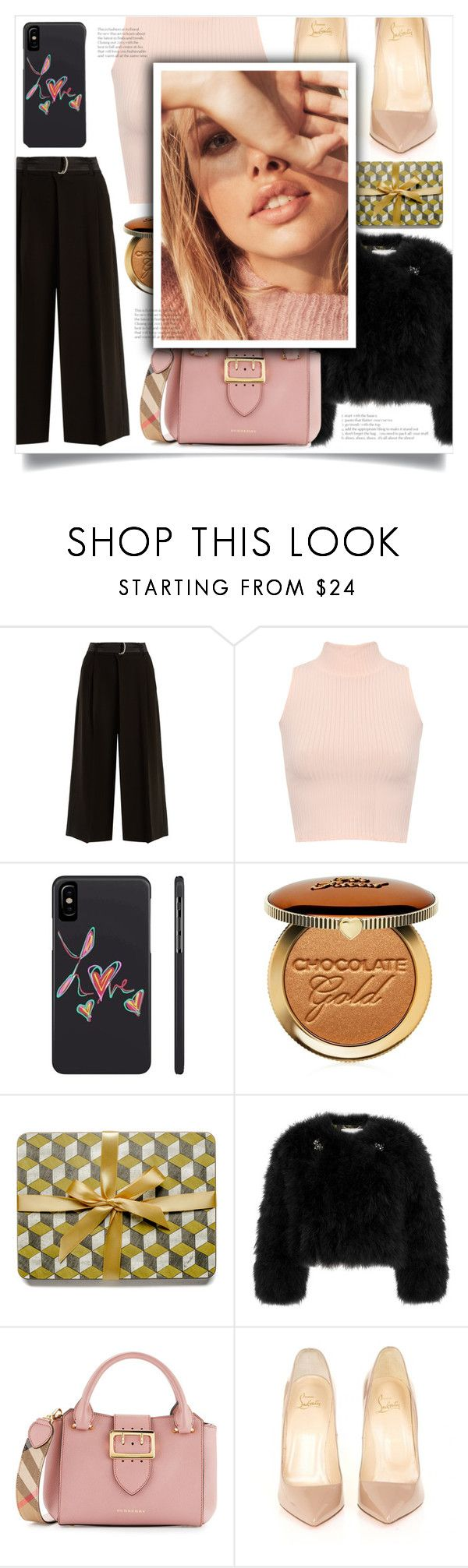 """Meet the family"" by jane-cupacake ❤ liked on Polyvore featuring Weekend Max Mara, WearAll, Too Faced Cosmetics, Erdem, Burberry and Christian Louboutin"
