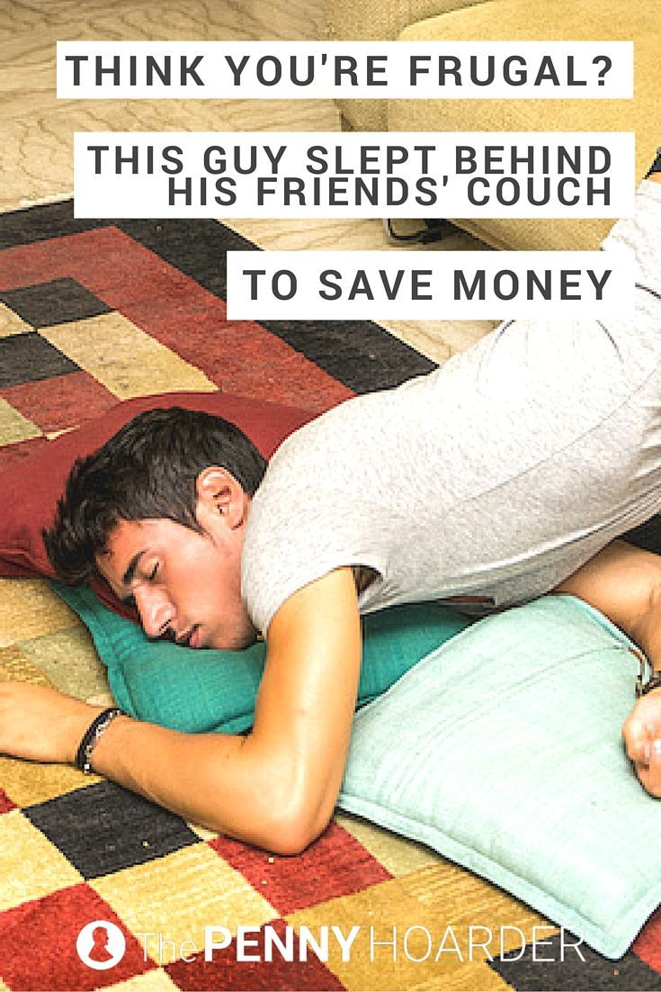 Most of us want to save money on housing -- but this guy took frugal living to a whole new level. He saved $11,000 in just nine months! - The Penny Hoarder http://www.thepennyhoarder.com/frugal-living-behind-a-couch/