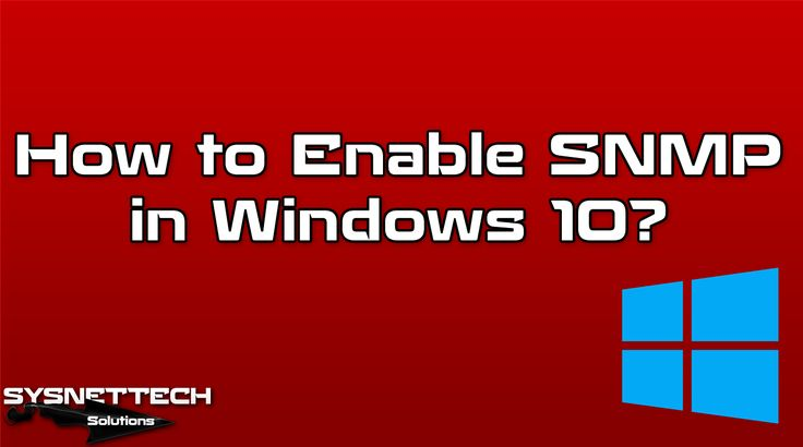 █ How to Use SNMP in Windows 10? | SYSNETTECH Solutions ───────────────────────────────────────── █ Watch the Video ► https://www.youtube.com/watch?v=mE793eEpffo ───────────────────────────────────────── #SNMP #Windows #Windows10 #YouTube #HowTo #InstallSNMP #SetupSNMP #ConfiguringSNMP #IT #Network #Networking #Cisco #Microsoft #NetworkManagement #MIB #UDP #NMP #OperatingSystem #CCNA