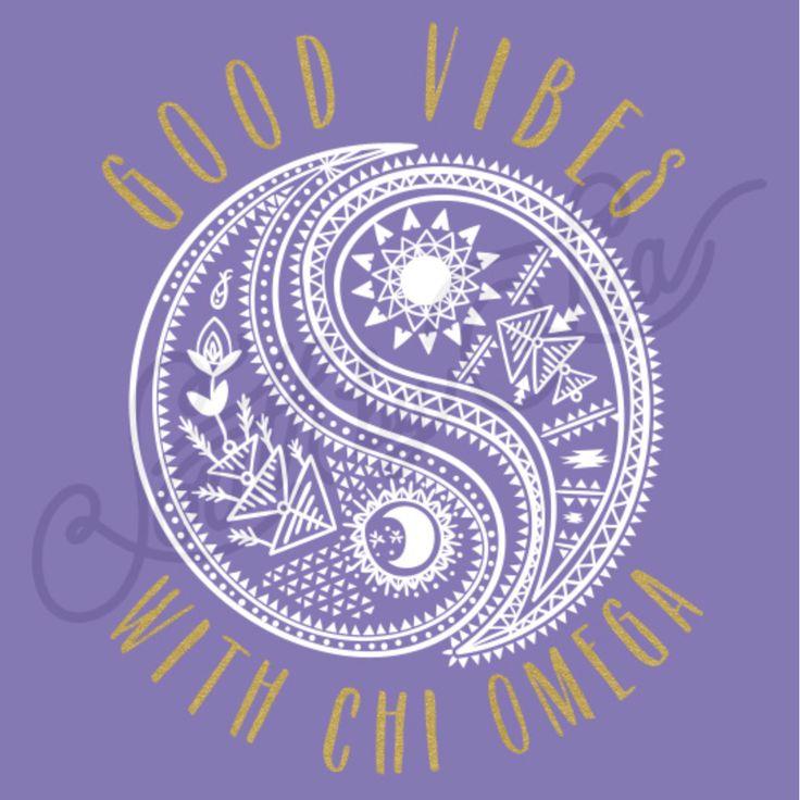 Good Vibes   Chi Omega   Chi O   Paisley Design   Yin Yang Design   Hand Drawn…