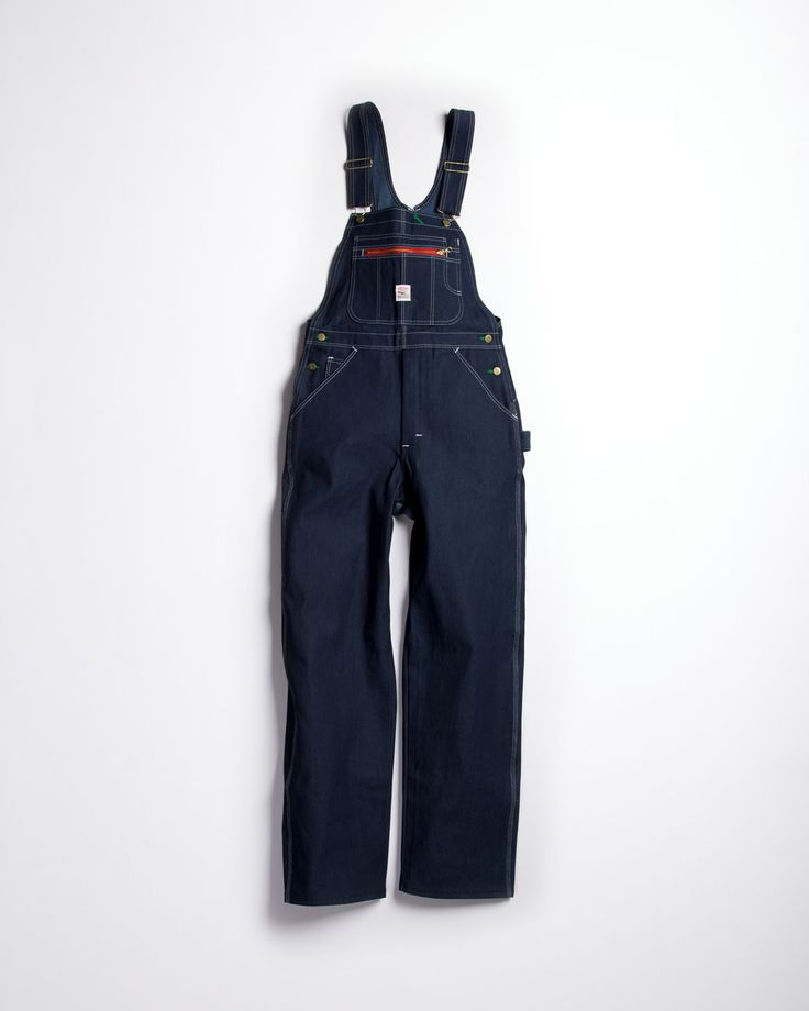 Pointer Brand Rigid High Back Overall Indigo Blue Denim