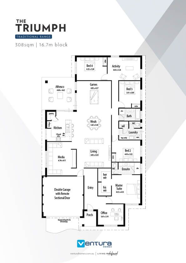 The Triumph Affordable Luxury And Quality By Ventura Homes Affordable House Plans Ventura Homes House Plans