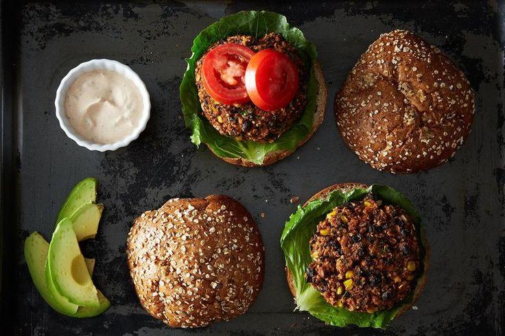 Black Bean and Quinoa Veggie Burgers http://food52.com/recipes/19635-black-bean-and-quinoa-veggie-burgers