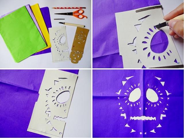 diy papel picado / diy decorated paper