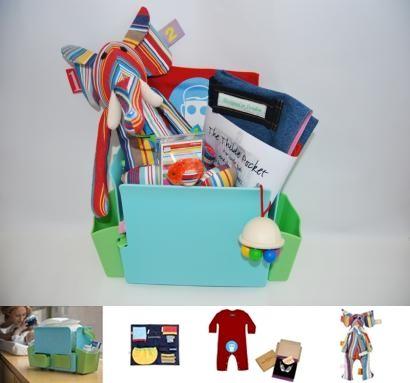 Canastillas modernas y regalos originales para un bebé recien nacido