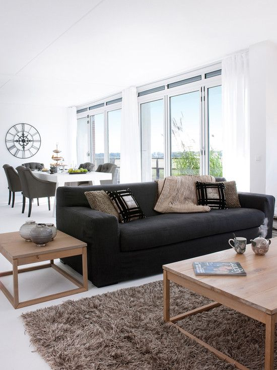 black couch living rooms design pictures remodel decor and ideas page 15