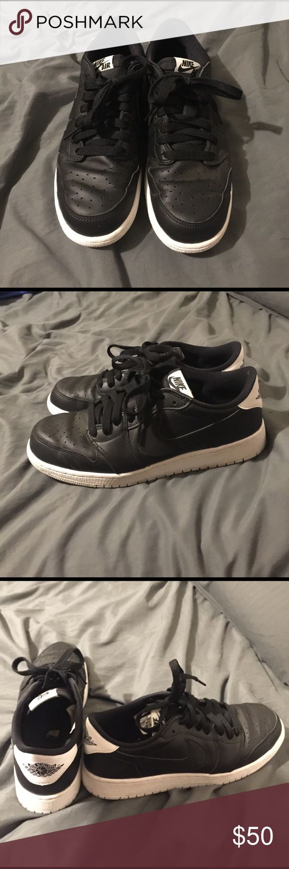 Nike Air Jordan 1 Low Grade School Pair of Air Jordan 1 Lows in EUC. Only wore a handful of times. They are Size 7Y which is the equivalent of a women's 9. Awesome shoes, but I just never wear them. Hoping to send them to a good home! Jordan Shoes Athletic Shoes