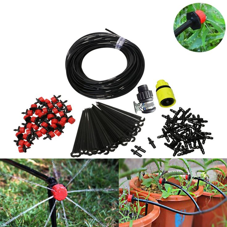 25m DIY Micro Drip Irrigation System Self DIY Home Garden Watering Kits