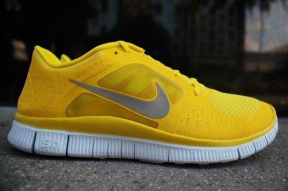 and finally a true yellow pair of running shoes