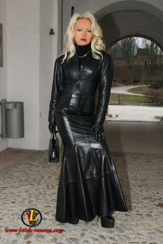 leather skirt and jacket fashion leather