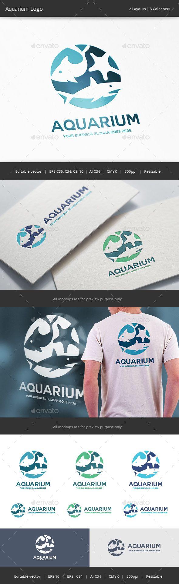 Aquarium Logo — Vector EPS #deep #company • Available here → https://graphicriver.net/item/aquarium-logo/14325890?ref=pxcr