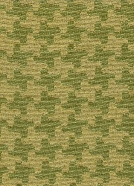 Green hounds tooth upholstery fabric