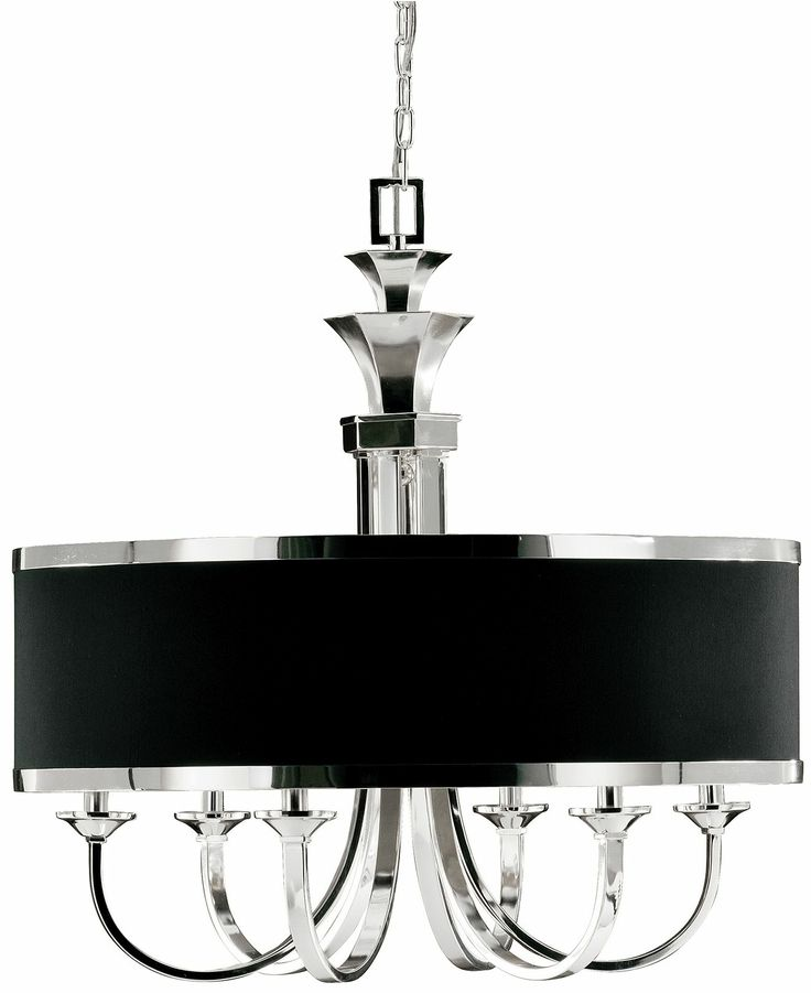 Uttermost chandelier tuxedo single shade 6 light ceiling lights for the home