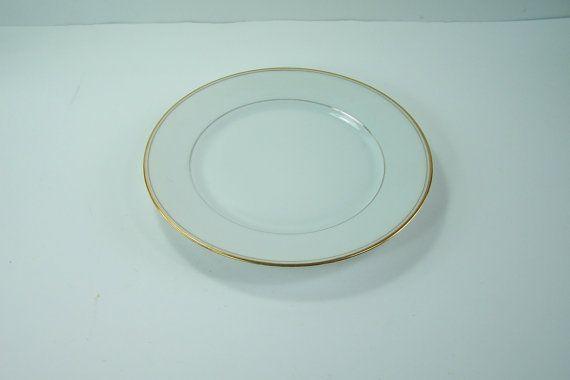 porcelana de postre blanco de 4 platos de Limoges a goteo o unión cerámica 1909-1938 vintage hecho en Francia