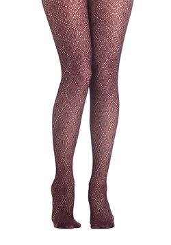 Go Fig-ure Tights, #ModCloth