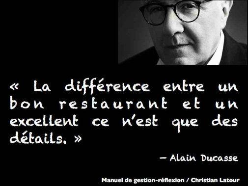 Pour atteindre l'excellence comme Alain Ducasse, vous devez être maniaque des détails tout en ayant une vision d'ensemble... - La Revue HRI : HOTELS, RESTAURANTS et INSTITUTIONS