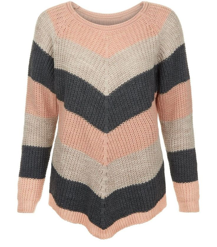 New Look(ニュールック)   New Look QED Pink Knitted Stripe Jumper - MILANDA(ミランダ)通販