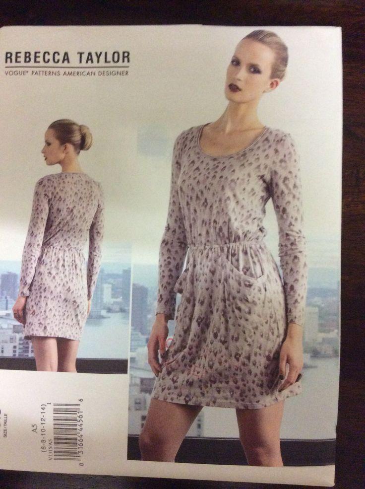 Vogue 1315, Misses dress, Size 6-14 (30.5-36, 2012
