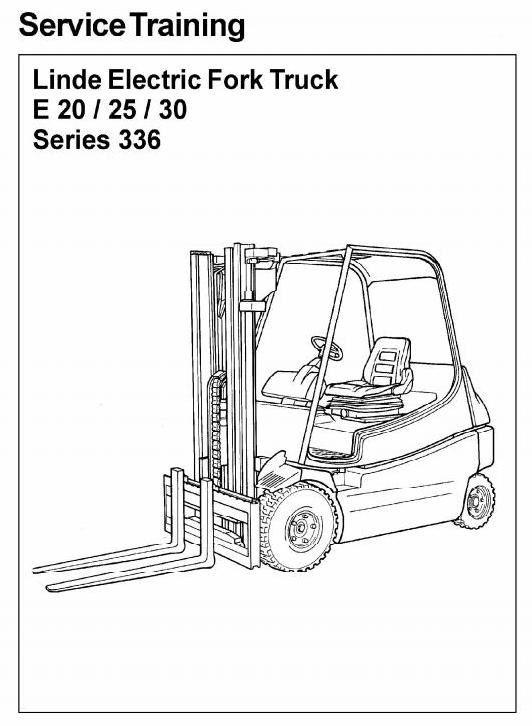Linde Electric Forklift Truck 336 series: E20, E25, E30