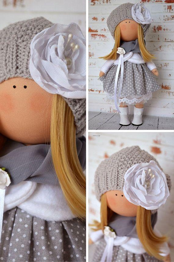Muñeca de tela muñeca Interior Inicio arte por AnnKirillartPlace