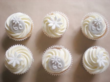 Looby S Cakery Diamond Wedding Anniversary Cupcakes