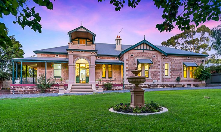 Large house. stained glass windows. High ceilings. Cove cornices. Sunken fire pit. Adelaide. InDaily.