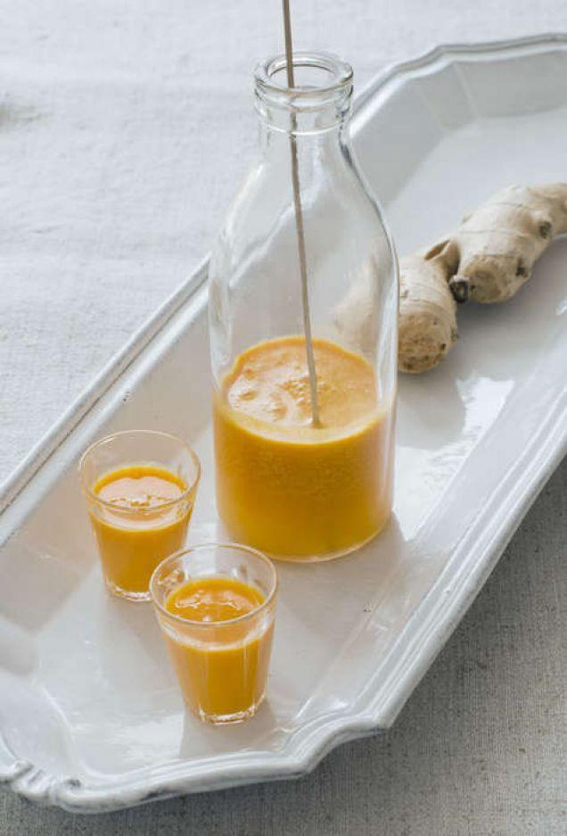 Kliv upp enklare på morgonen med hjälp av juice innehållande ingefära. Innehåller 54kcal.